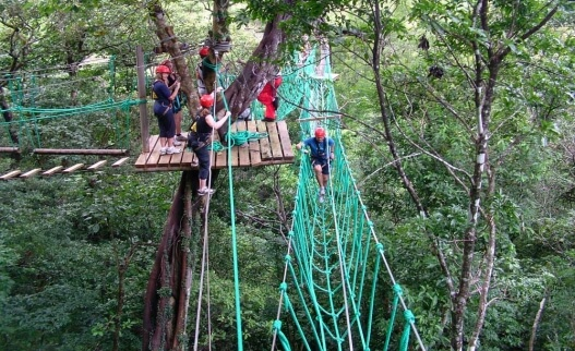 Hanging Bridges High Rope Course